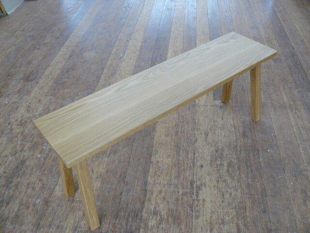ホワイトオーク材シンプルベンチの画像1枚目