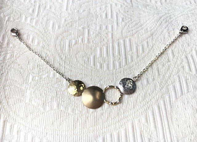 シルバー×真鍮羽織紐【E・N】Aタイプの画像1枚目