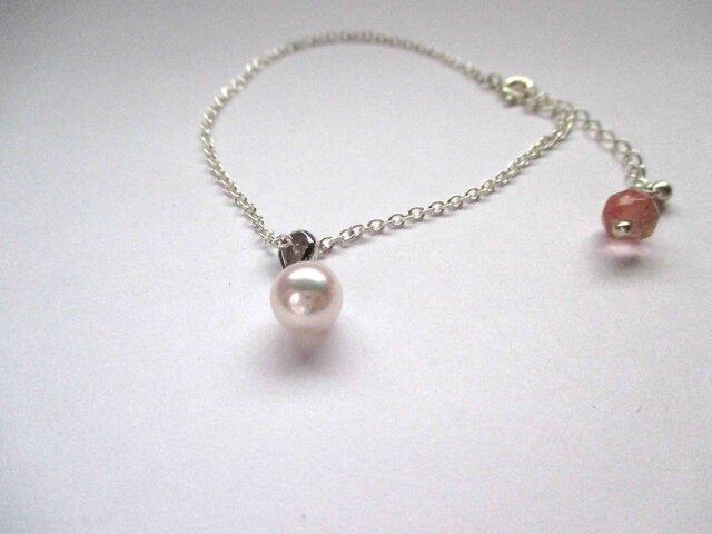 【Akoya bracelet Cherry】の画像1枚目