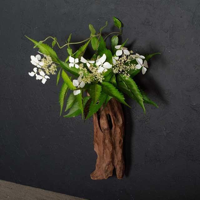 壁掛け流木の花器、フラワーベース、12の画像1枚目