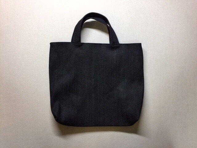小さめバッグ【濃紺デニム・無地】の画像1枚目