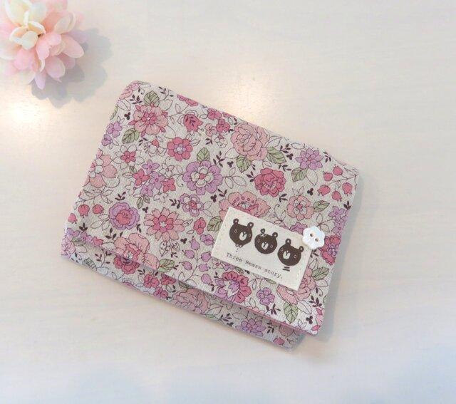 再3販*移動ポケット*YUWA花柄*ピンク*ポケットティッシュケースの画像1枚目