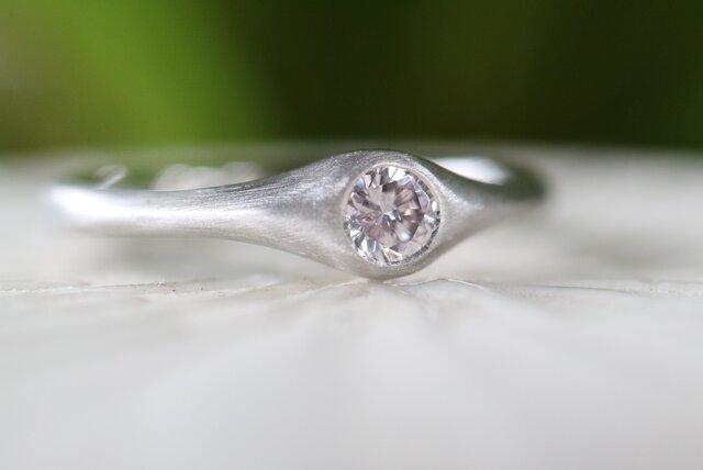 天然ピンクダイヤモンド指輪の画像1枚目