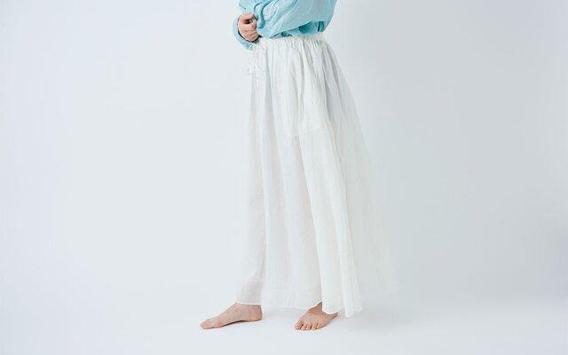 【送料無料】enrica cottonsilk skirt natural / size 38の画像1枚目