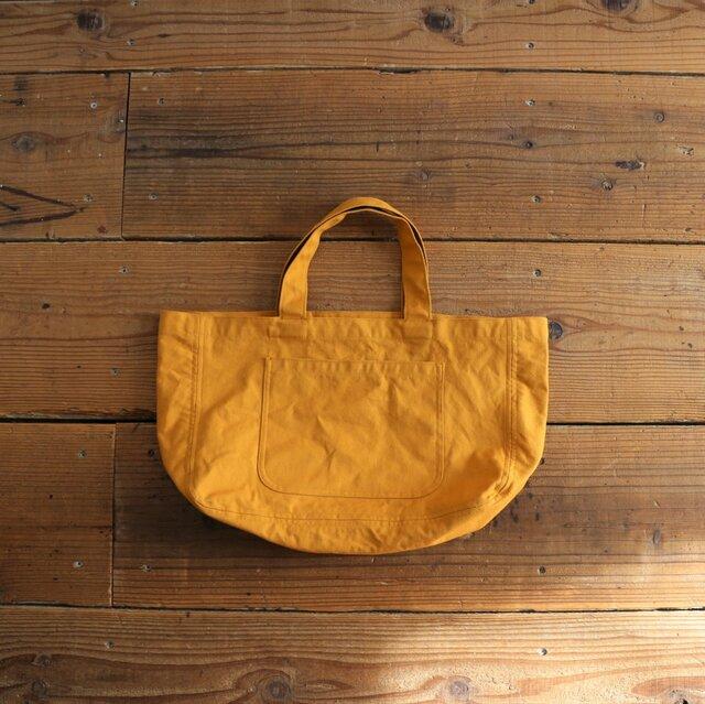 hanpu A4-tote : mustard :の画像1枚目