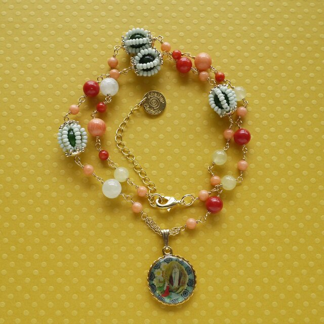 聖母マリアのネックレスn-2604の画像1枚目