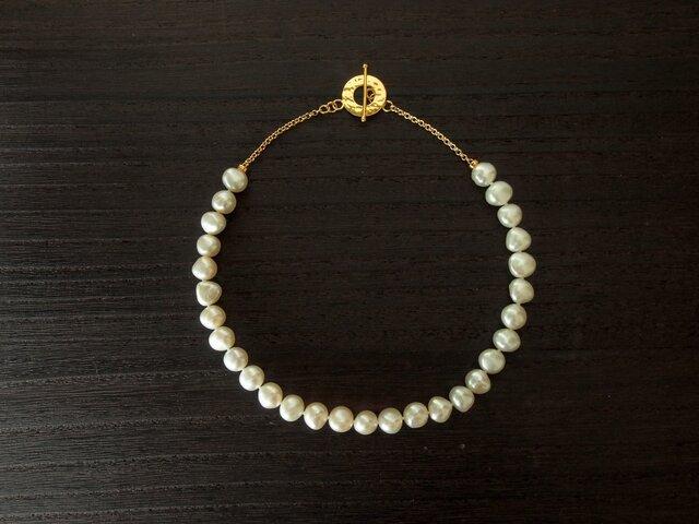 淡水真珠のネックレスの画像1枚目