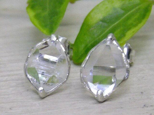 NYハーキマーダイヤ*925/Rd pierceの画像1枚目