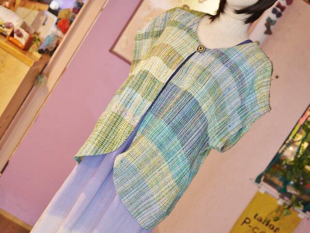 手織り ベスト 春夏の画像1枚目