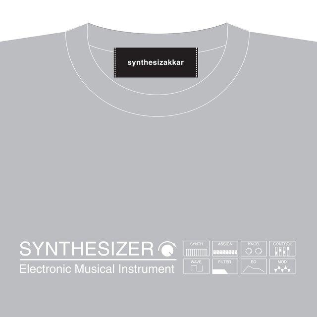 【Tシャツ】SYNTHESIZER T-shirt・シンセサイザーTシャツ・グレーの画像1枚目