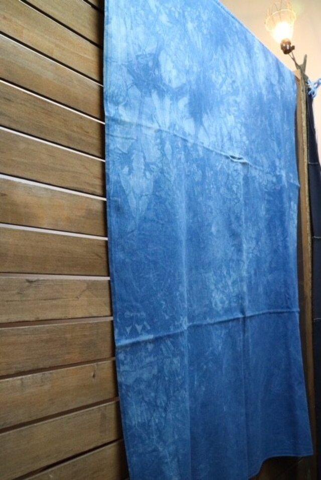 藍染めマルチカバー:まだら柄の画像1枚目