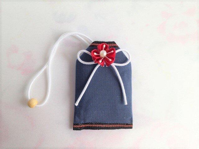 畳の「縁結び」お守り袋(赤花)の画像1枚目