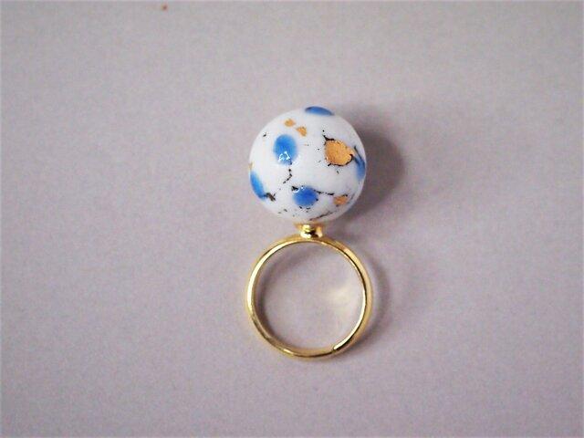 磁器 リング feeling blue earth 2の画像1枚目