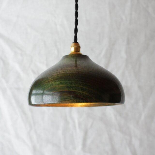 木と漆のランプ 楠 (ks1)の画像1枚目