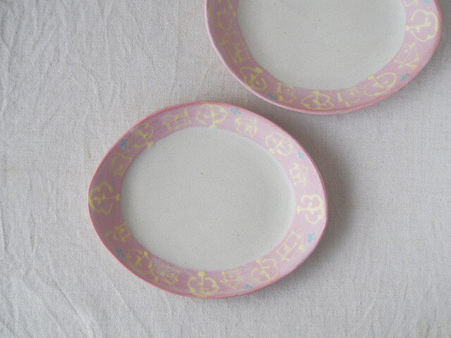 いっちん楕円皿-ピンク-の画像1枚目