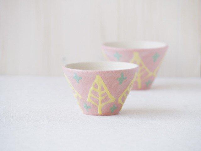 いっちん豆小鉢(反り)-ピンク-の画像1枚目