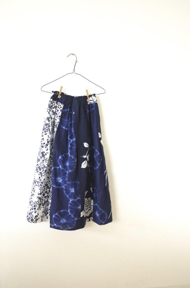 浴衣のパッチワークギャザースカート の画像1枚目