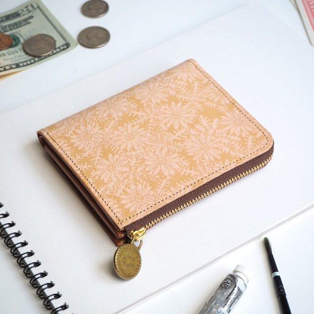 L字ファスナー 財布(ピースフル デイジー)オールレザー 革  メンズ レディース ILL-1157の画像1枚目
