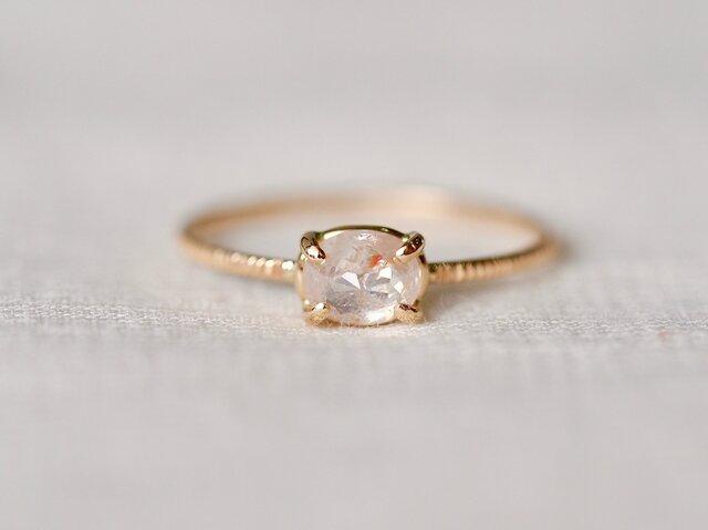 Pink Veil Diamond Ringの画像1枚目