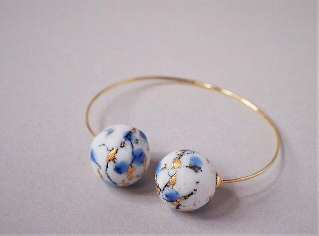 磁器 ブレスレット feeling blue earthの画像1枚目