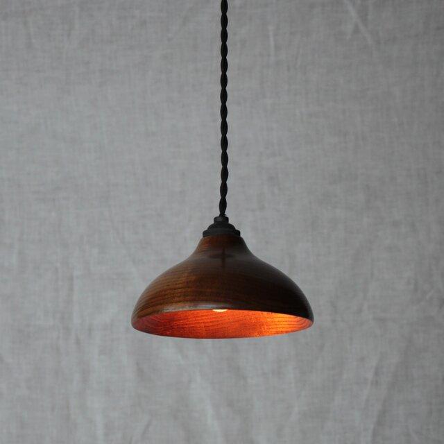 木と漆のランプ 金桑 (kg1)の画像1枚目