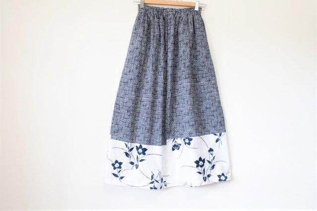 ☆浴衣ロングスカート☆ パッチワーク8枚♪/31ys08の画像1枚目