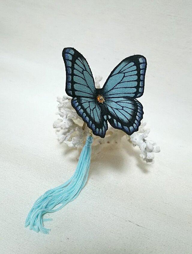 蝶のかんざし(小)モルフォの画像1枚目