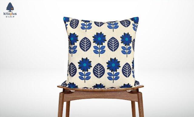 森のクッション blue flowers -ヒノキの香り-の画像1枚目