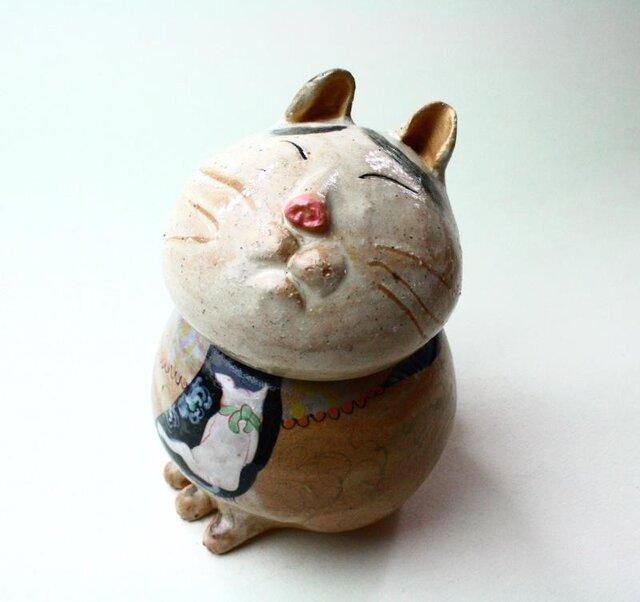 猫八の陶箱 / 陶器 / 陶筥/ 猫 /陶芸家 / cute ceramic boxの画像1枚目