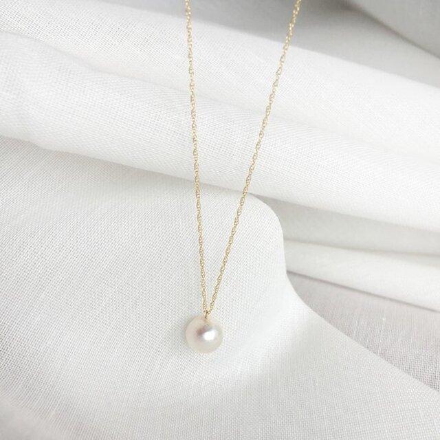 【K14GF】Akoya Pearl Necklaceの画像1枚目