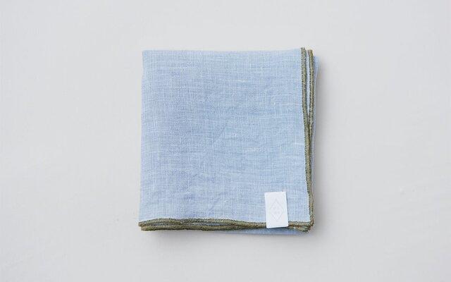 【再入荷】草木染めリネン ハンカチ|煤色:グレー(ログウッド)の画像1枚目