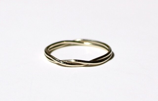 Max roach ring / K10 YG. PG. WG.の画像1枚目