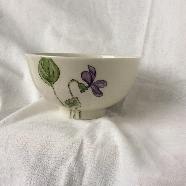 『北欧風 パンジー』のお茶碗の画像1枚目