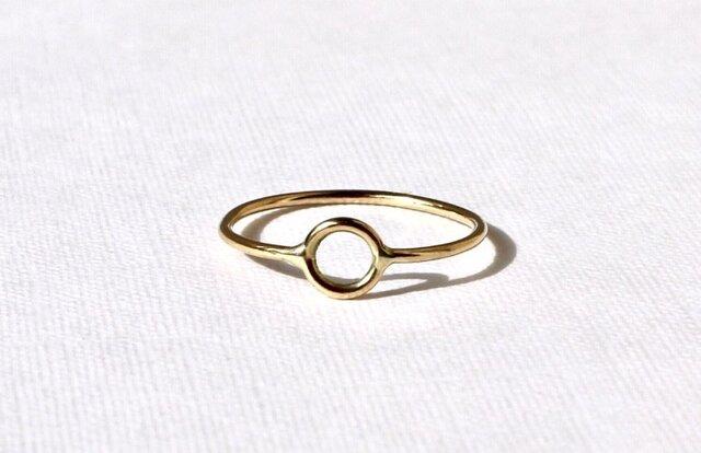 Circle motif ring 02 / K18 YGの画像1枚目