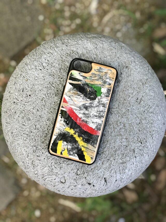 【即納】iPhone7ケース アイフォンケース スケートボード 木製 木目 高品質 スケートボード 職人手作り 薄型の画像1枚目