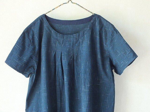 ビルマ木綿のタックワンピースの画像1枚目