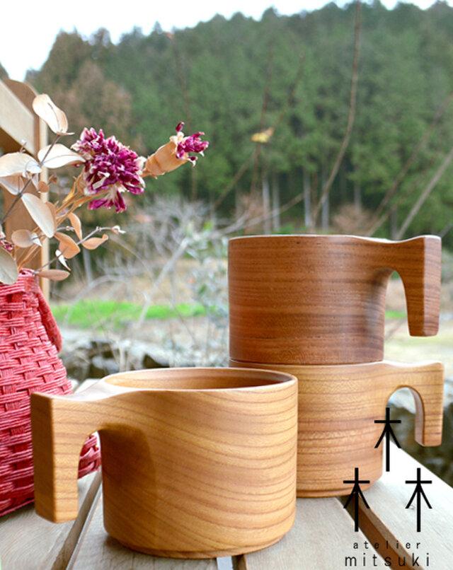 【 追加しました、再販10回以上 ◎ 大人気 】たっぷり入る 木製マグカップ wooden mag 欅 けやき 0049の画像1枚目