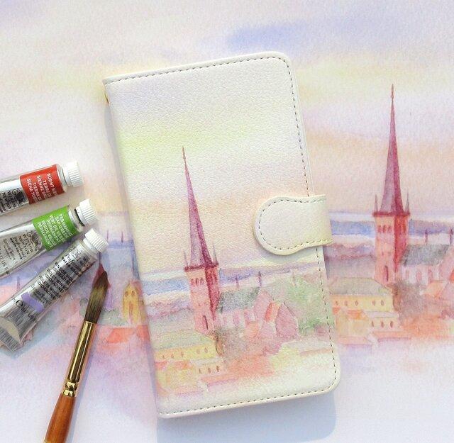 エストニア スマホケース 手帳型 【受注生産】アンドロイド iPhoneケース 外国の風景の画像1枚目