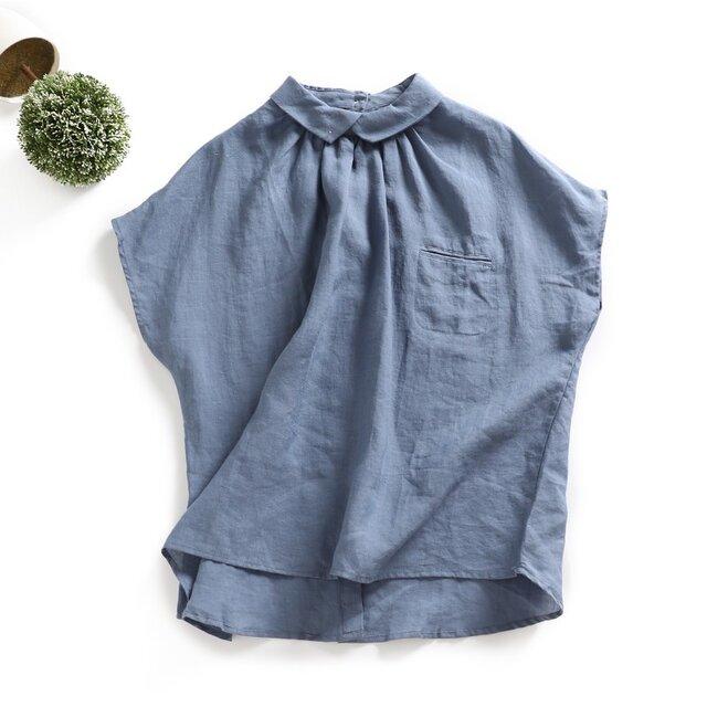 『初夏のキャンペーン実施中 送料無料』さらりと 着れるブラウス トップス 半袖s0513の画像1枚目