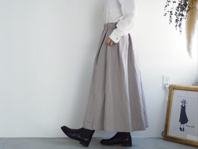 リネンレーヨンのスカート グレージュ  No.59の画像1枚目