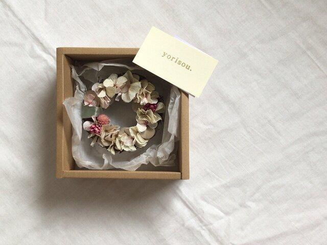 紫陽花の小さなリース【置き型】の画像1枚目