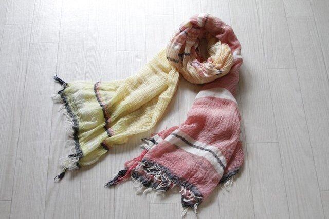 roots shawl BIG cotton100の画像1枚目