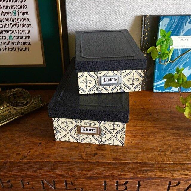 紳士のための蓋付きBOX(大)の画像1枚目