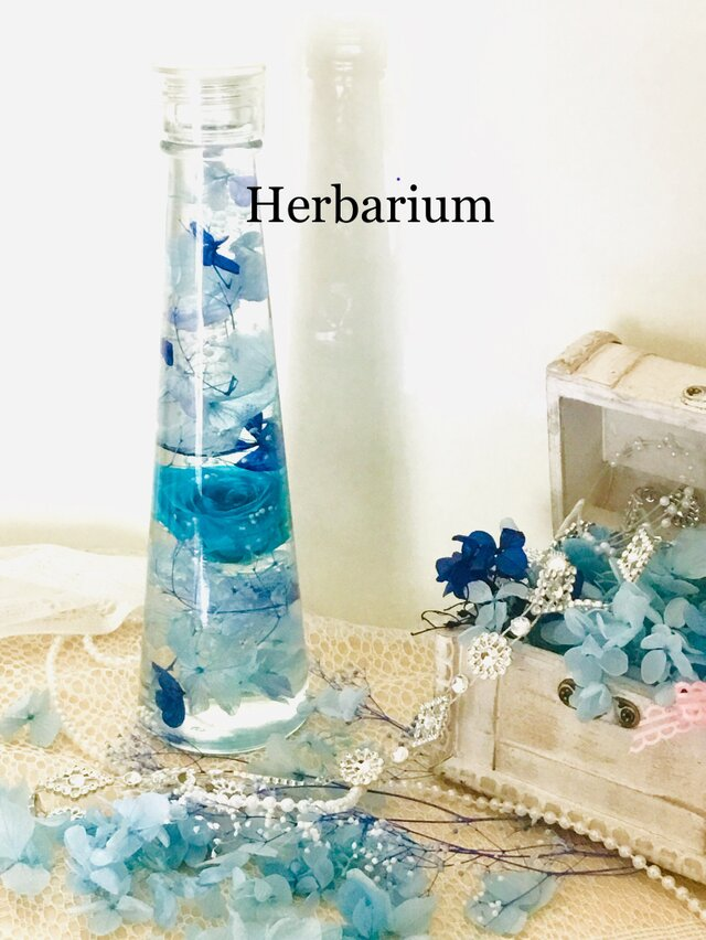 ハーバリウム カリビアンブルーの画像1枚目