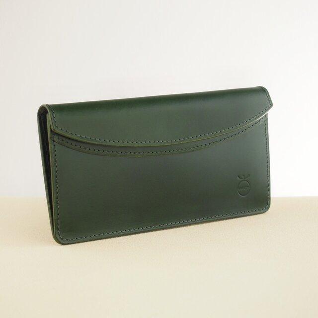 薄い軽い使いやすい! スリムな財布#グリーンの画像1枚目