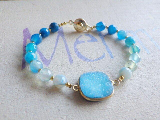 海のドゥルージー Ocean Druzy Braceletの画像1枚目