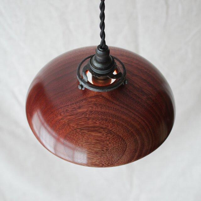 木と漆のランプ 楠 (ks6)の画像1枚目