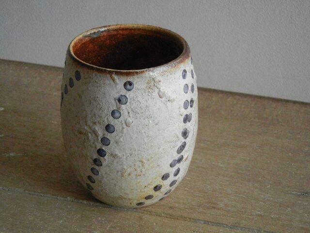 百色(ももいろ)象嵌 つぼみカップ 水滴の画像1枚目