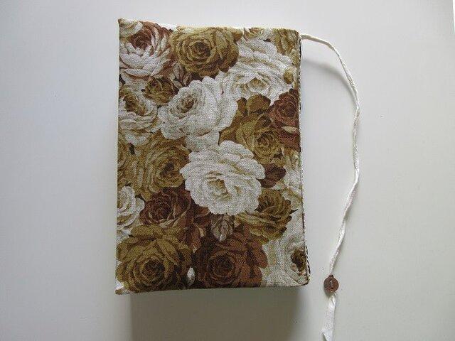 A5サイズのブックカバー ~モカ薔薇~の画像1枚目