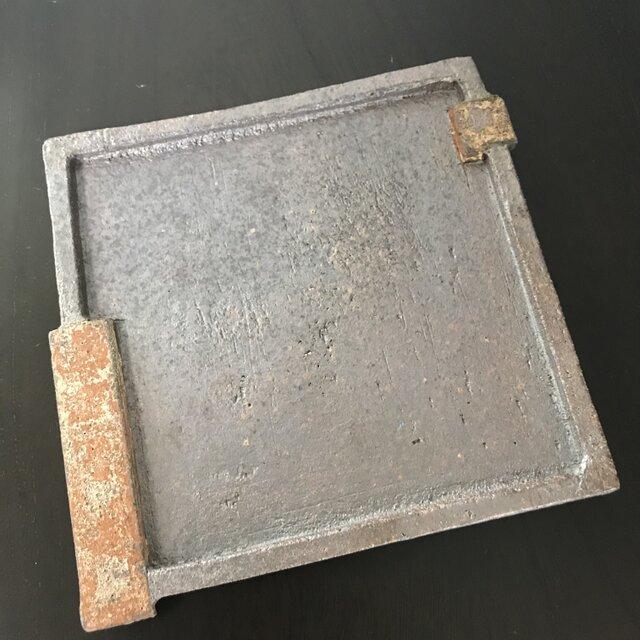 焼締角板皿(5寸)の画像1枚目